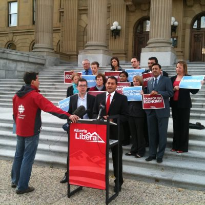 Alberta Liberal Leader Raj Sherman quits, completing last-place trifecta of disastrous party leaders