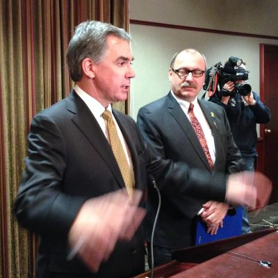 Jim Prentice to Rotarians: Don't read my lips, but no new taxes! Everything else will be revealed later …