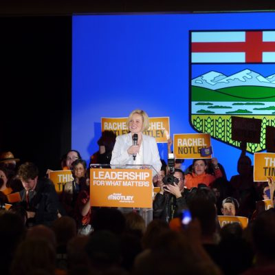 NDP Leader Rachel Notley proves electrifying political speech-making still thrives in Canada