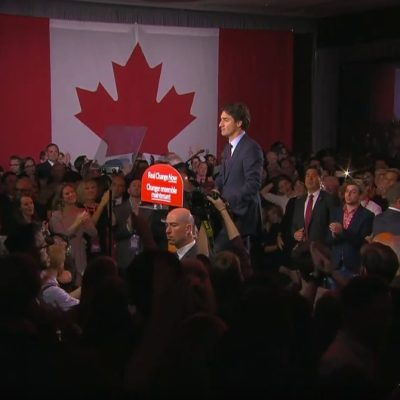 Justin Trudeau's victory speech was generous, but toughly repudiated Stephen Harper's divisive rule
