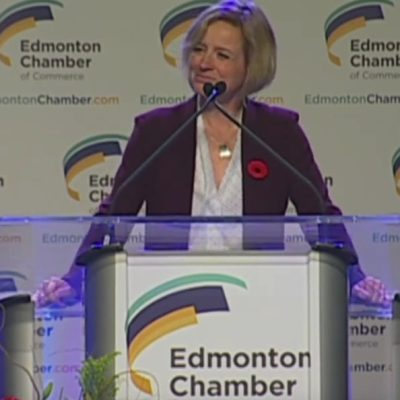 Rachel Notley sticks to her fiscal guns at 'state of the province speech' to Edmonton Chamber of Commerce