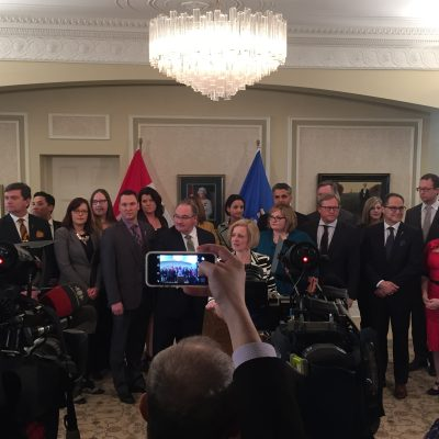Premier Rachel Notley introduces six new cabinet members … pretty flawlessly
