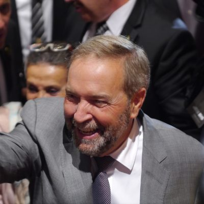 Pipeline perceptions, percentages and past Parliamentary performance dog NDP Leader Thomas Mulcair in Alberta's capital