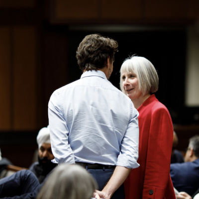 Federal Health Minister Patty Hajdu waves a red flag in front of her irascible Alberta counterpart, Tyler Shandro