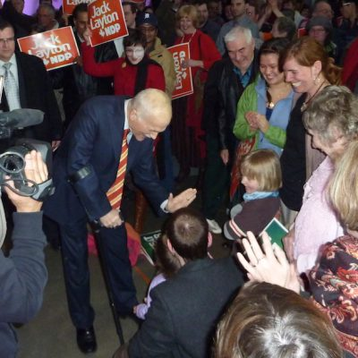 Hard to believe it's been seven years: Looking back to 2011, and Election Eve 2008, with happy memories of Layton, Jack
