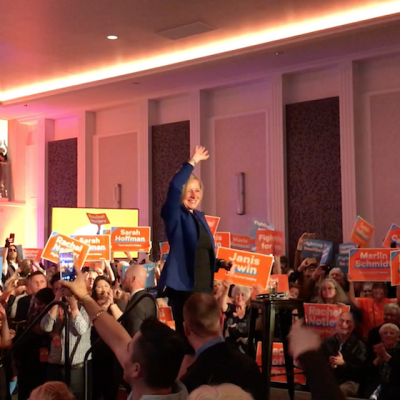 Rachel Notley, one of the finest political orators of her generation, raises the rafters with optimistic speech in Edmonton