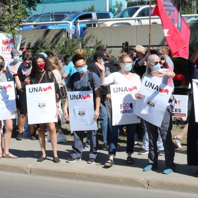 Nurses protest while Kenney Government doubles down on hard-line post-pandemic bargaining strategy