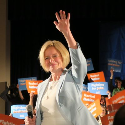 Rachel Notley accepts nomination; accuses Jason Kenney of coolly lying about 'Kamikaze Campaign'