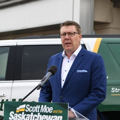 What was Saskatchewan's media doing when it wasn't reporting on Scott Moe's driving record?