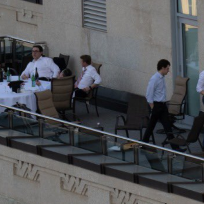 Anonymous shutterbug snaps Jason Kenney and cabinet insiders breaking pandemic rules at boozy Sky Palace patio table